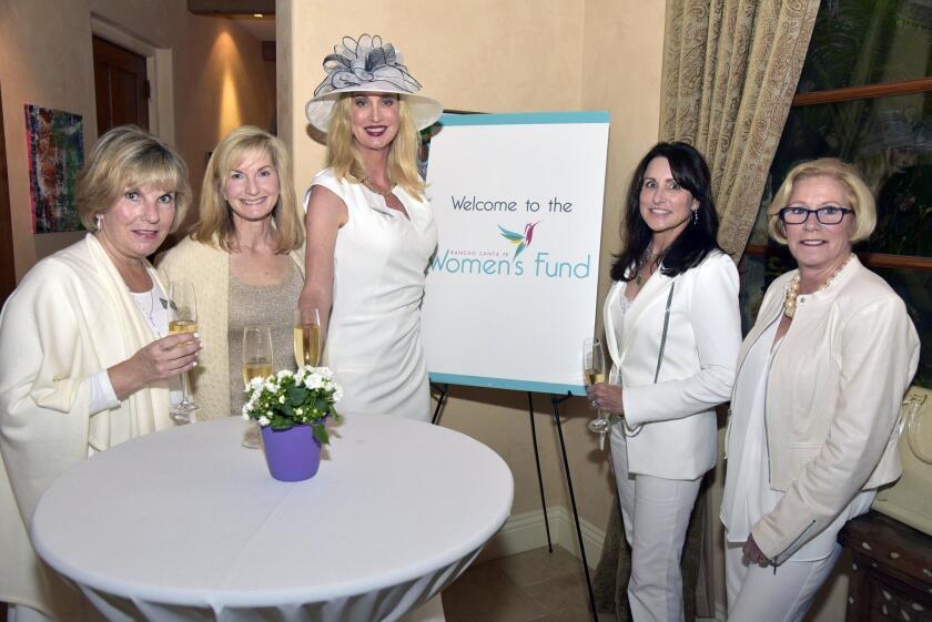 Host Denise Walsh, Mary Karen Lundh, Sophia Alsadek, Advisor-at-large Allison Williams, Donna Vance