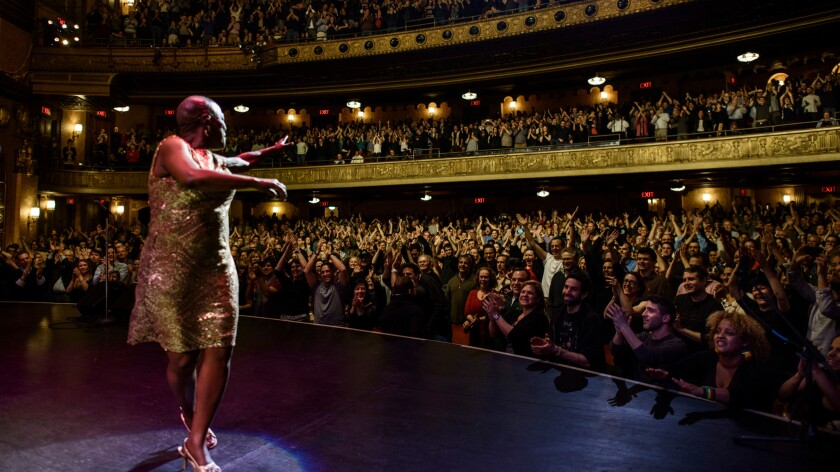 Sharon Jones performs at the Beacon Theater following cancer treatment.