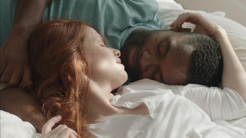 "Hani Furstenberg and David Oyelowo in ""Five Nights in Maine."""