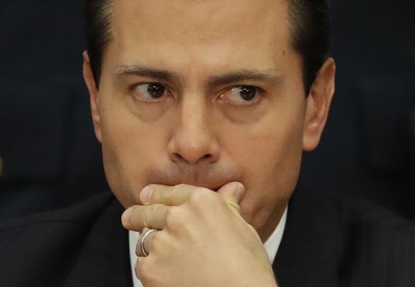 Fotografía de el presidente mexicano Enrique Peña Nieto. (AP Foto/Rebecca Blackwell)