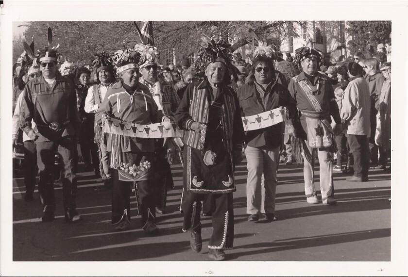 Oren Lyons during the opening ceremony in Geneva, Switzerland. Photo by Onondaga Nation Archives.