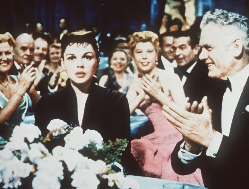 """CA.A Star.0226.HO.2.Judy Garland(R),Charles Bickford(R). """"A Star is Born."""" ©1954 Warner Bros. Televi"""