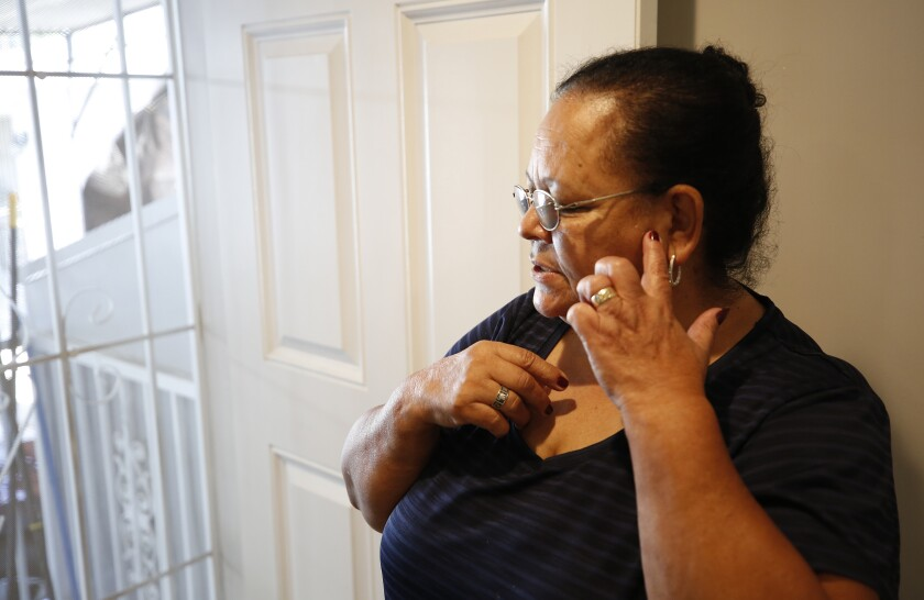 Maria Barajas, 68, at her home on East 27th Street
