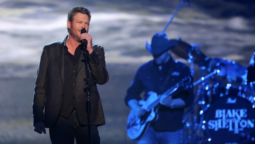 Blake Shelton performs during last month's Academy of Country Music Awards.