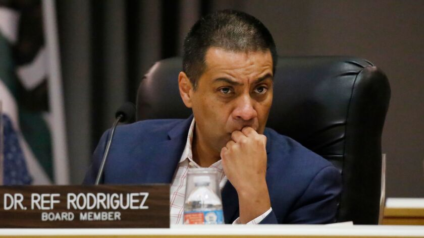 LOS ANGELES, CA – NOVEMBER 7, 2017: Los Angeles Unified School District Board member Dr. Ref Rodri