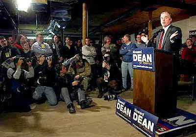 Dean addresses the media