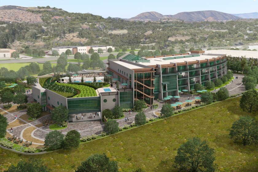 The Stone Hotel, located on 13 acres, would include a 10,000-square-foot roof garden and nearly one acre of outdoor meeting space.