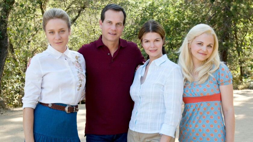"Chloe Sevigny, Bill Paxton, Jeanne Tripplehorn and Ginnifer Goodwin on ""Big Love."""