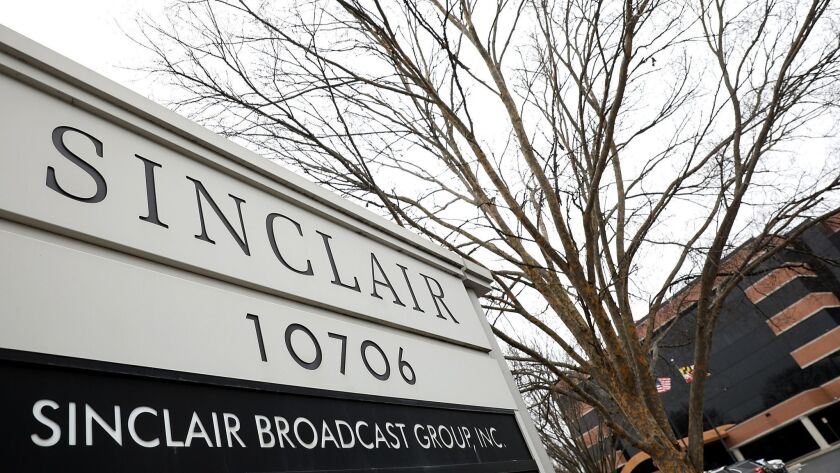 The headquarters of the Sinclair Broadcast Group, the largest owner of local television stations in the United States, in Hunt Valley, Md.