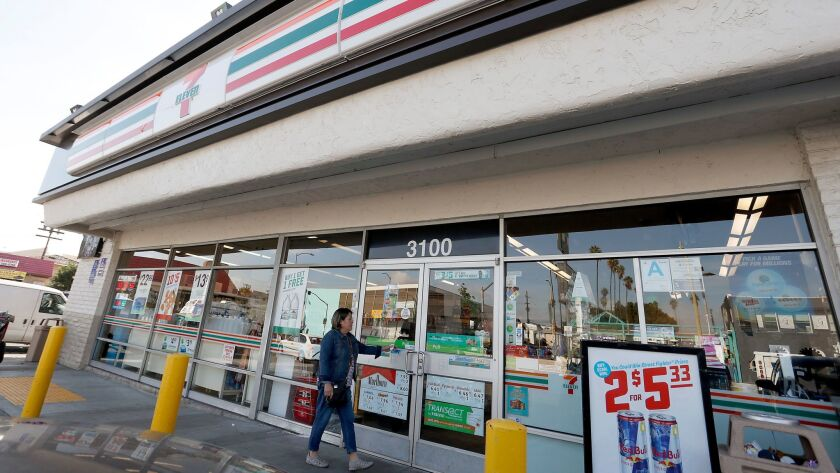 ICE raided dozens of 7-Eleven stores nationwide on Jan. 10, including this one at 3100 Beverly Boulevard in Los Angeles.