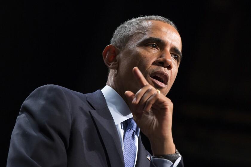 President Obama speaks at Northwestern University in Evanston, Ill., on Oct. 2.