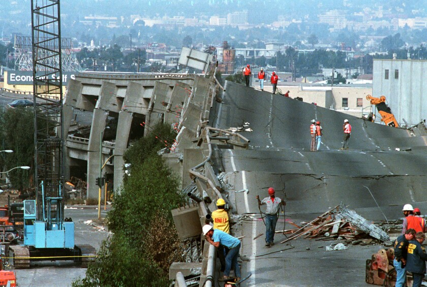 The magnitude 6.9 Loma Prieta earthquake in 1989 did massive damage in the San Francisco Bay Area, including to Interstate 880 in Oakland.