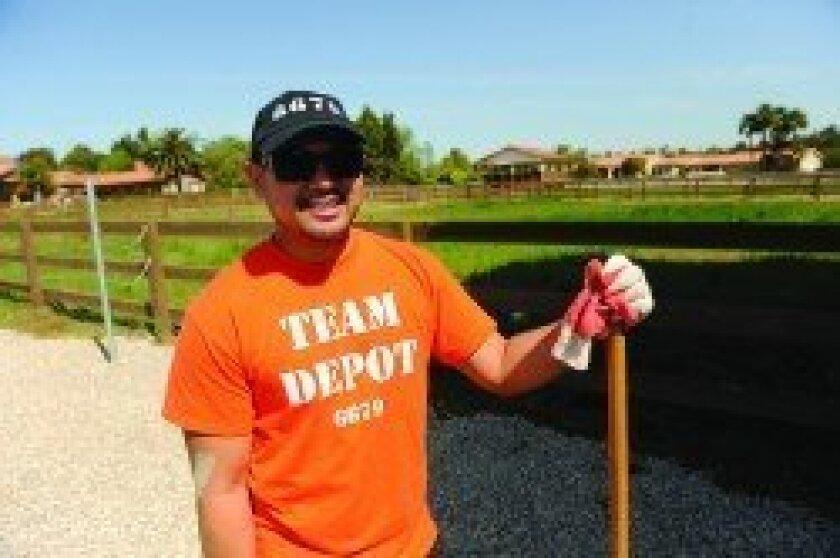 Home Depot volunteer Dexter Paulite (Photo: Jon Clark)