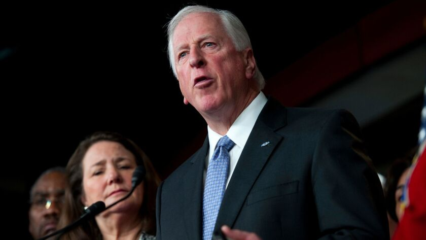 Rep. Mike Thompson (D-St. Helena), along with fellow House Democrats, holds a news conference on banning high-capacity clips in the U.S. Capitol on Dec. 19, 2012.