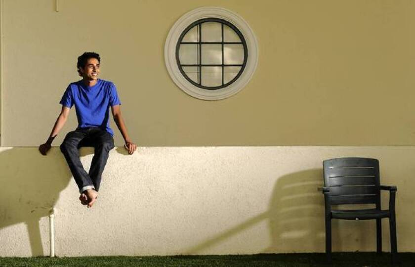 "Suraj Sharma, star of ""Life of Pi,"" at Fox Studios in Los Angeles."