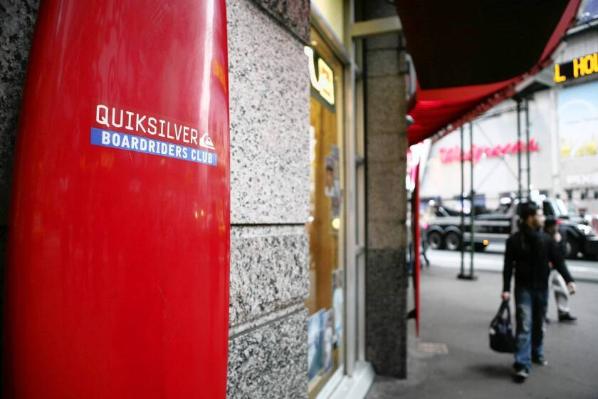 Quiksilver has lost money in each of the last six years and is on pace for a loss this year as well. Above, a company store in New York.