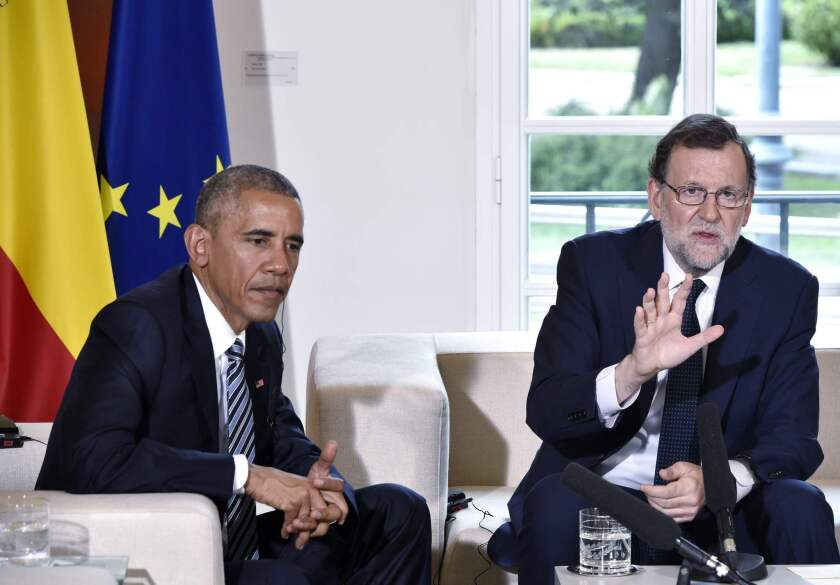 President Obama and Mariano  Rajoy