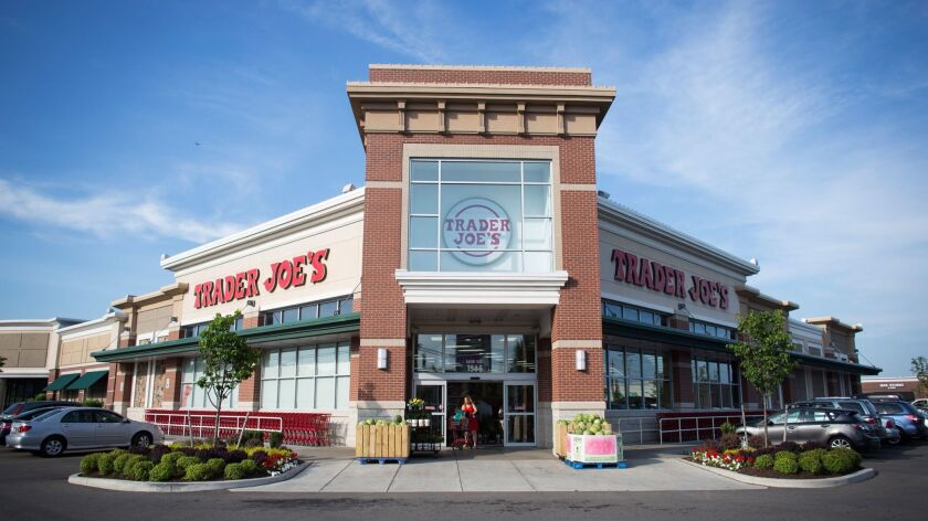 Trader Joe's is popular for its gourmet, vegetarian and organic food options. Above, a store in Buffalo, N.Y., in 2015.