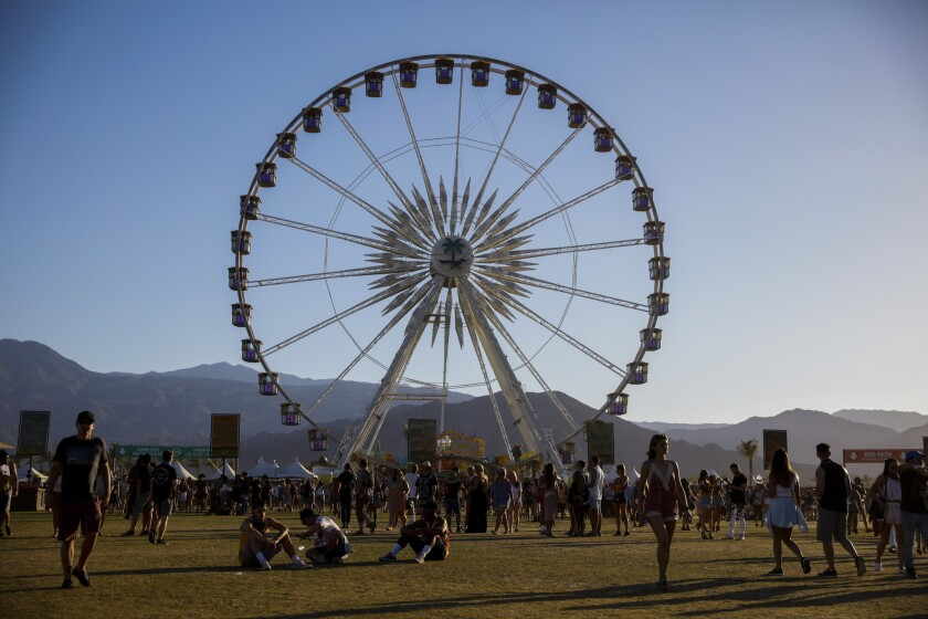 La Grande Wheel during weekend two of the Coachella Valley Music and Arts Festival in Indio, Calif., on April 23, 2016.