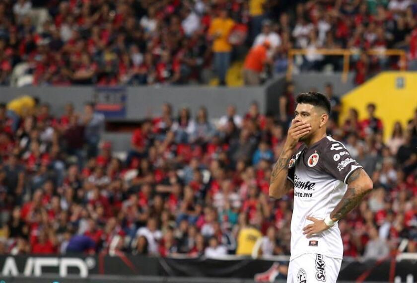 En la imagen, el delantero argentino Gustavo Bou. EFE/Archivo