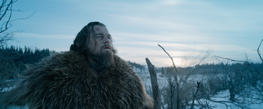 "Leonardo DiCaprio as Hugh Glass in a scene from the film ""The Revenant,"" directed by Alejandro G. Inarritu."