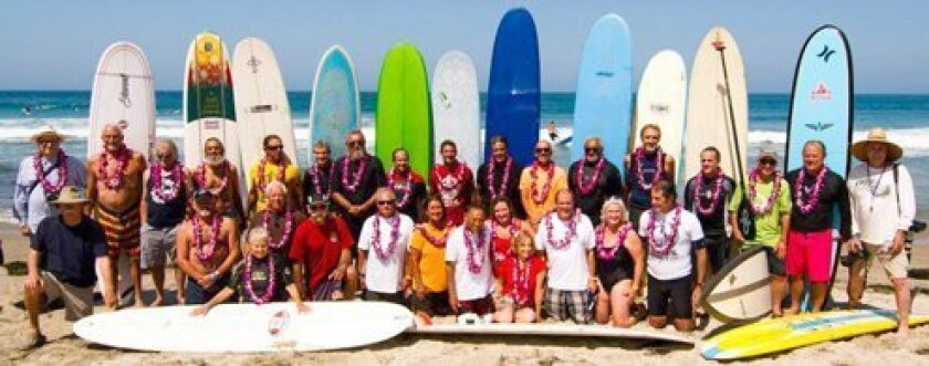 The 20th annual Luau & Longboard Invitational will be held near Scripps Pier Aug. 18, 2013 to benefit the UC San Diego Moores Cancer Center. Courtesy Photo