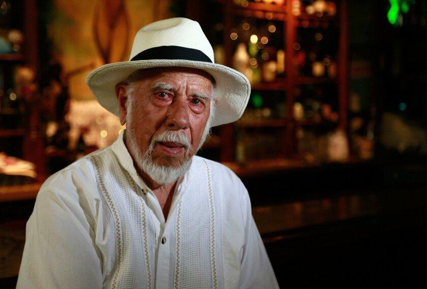 "Daniel Reveles, author of ""Tequila, Lemon and Salt,"" in Tecate's Bar Diana"