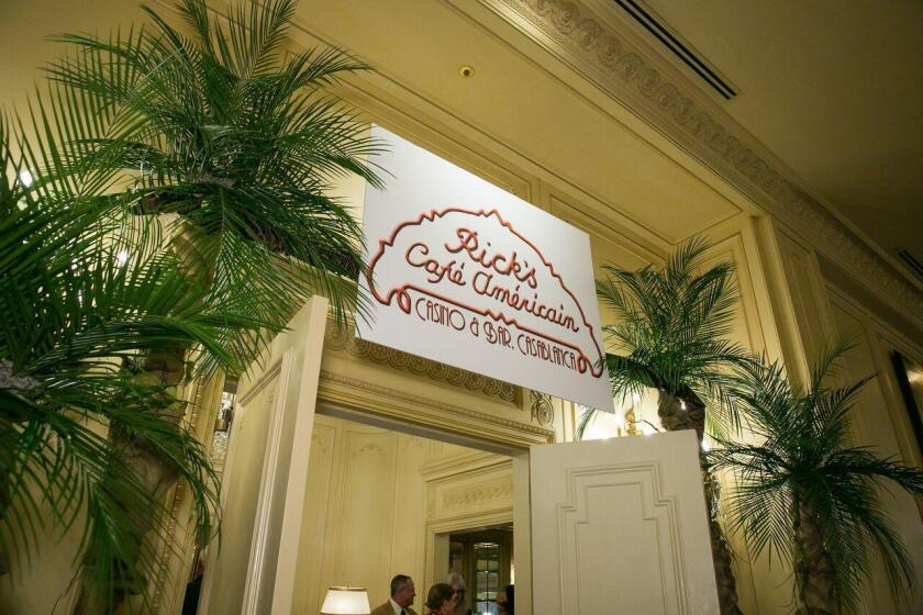 Casablanca's Rick's Café Americain welcomes gala guests to the silent auction and reception.