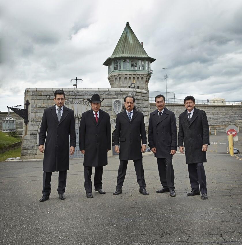Los Tigres del Norte outside Folsom Prison.
