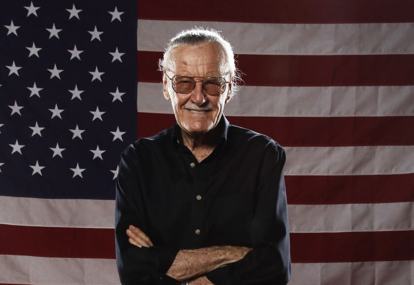 Stan Lee poses for a portrait at the LMT Music Lodge during Comic Con in San Diego in 2011.