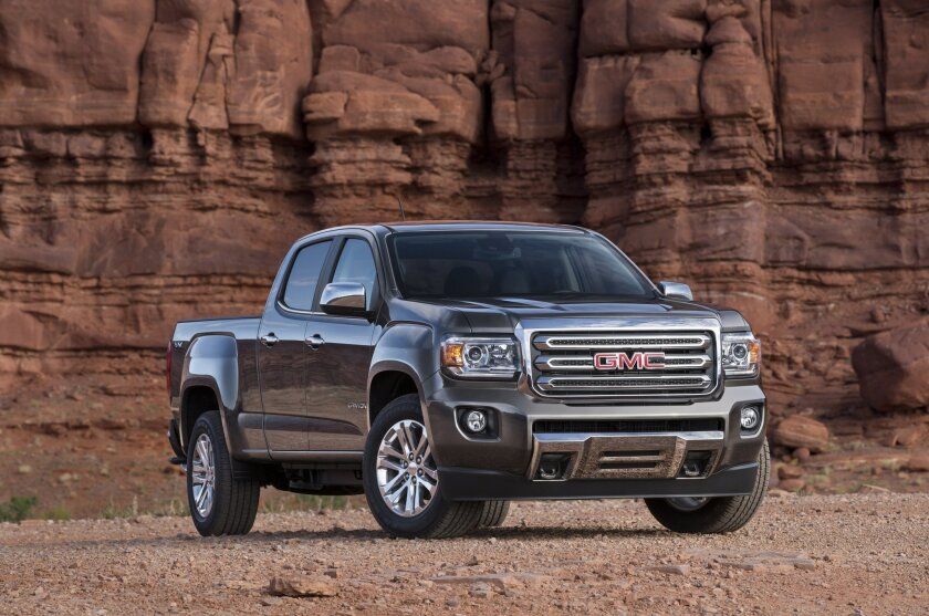 GM has issued recalls on pickup trucks with faulty airbags. The recall includes the 2015 GMC Canyon, pictured here.