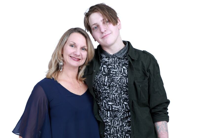 Michelle Dobbs with her son, Collin Boyle