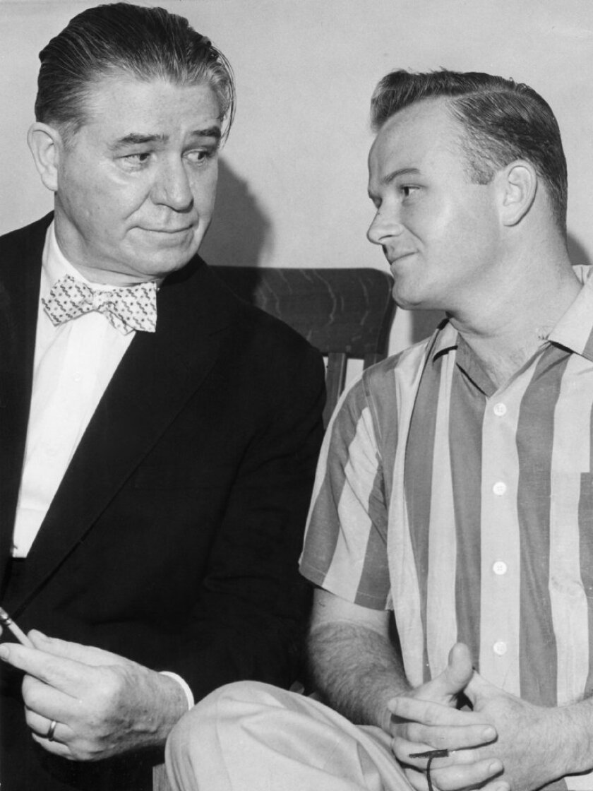 Wayne Snow McFarland, right, and his lawyer Percy Foreman