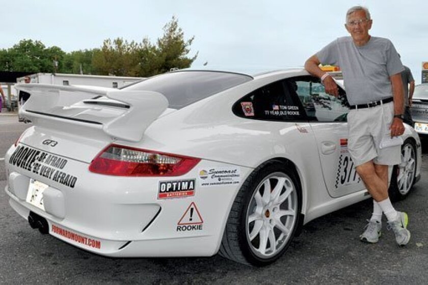 Dr. Tom Green, 77, of La Jolla navigates his first car race, participating in the Nevada Open Road Challenge. Courtesy Photo