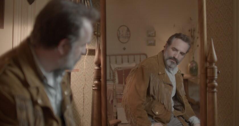 """Jean Dujardin in the movie """"Deerskin."""""""