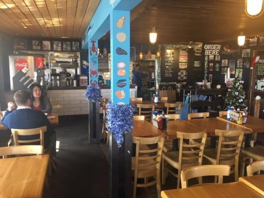 The interior at Mitch's Seafood Restaurant in Point Loma
