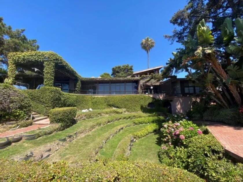 The late Walter Munk's landscaped house, Seiche, is in La Jolla Shores.