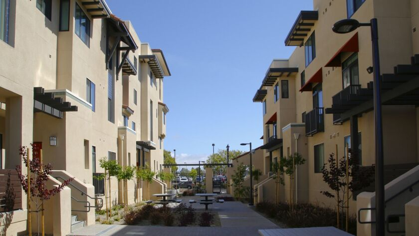 Paradise Creek apartments, an affordable-housing project on Hoover Avenue in National City.