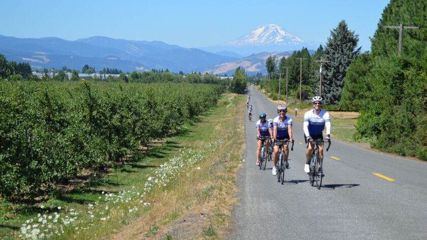 Cycle through Oregon's Columbia River Gorge, and go rafting too
