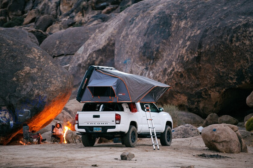 Roofnest makes $3,000 to $4,000 rooftop tents for overlanders and campers.