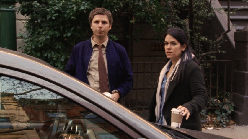 """Michael Cera and Abbi Jacobson in """"Person to Person."""""""