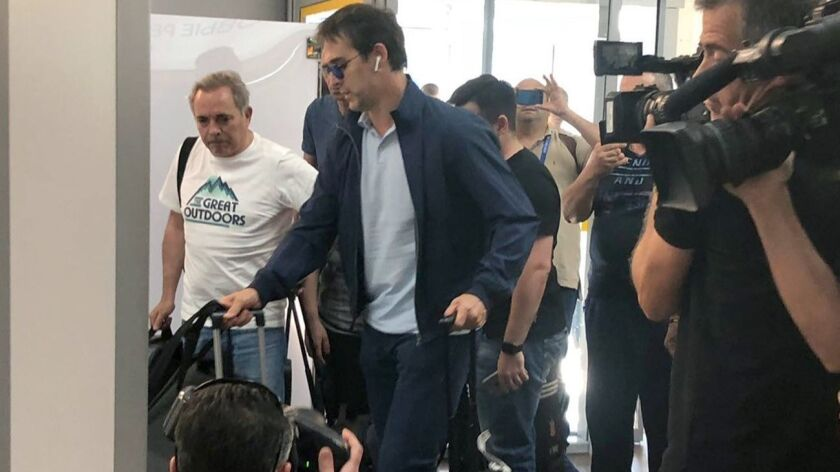 Spain's former national soccer head coach Julen Lopetegui leaves Russia, Krasnodar, Russian Federation - 13 Jun 2018