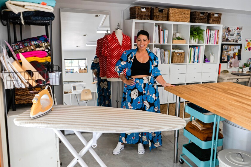 FEB. 28, 2020 - From her sunny home studio in Glendale, Mimi G is building an online sewing empire, one stitch at a time. (Jesse Goddard / For The Times)