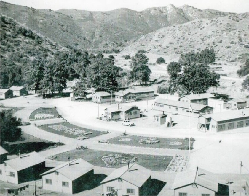 The Moosa Canyon Prison Labor Camp #38 in Valley Center was in operation from 1941 to 1948. Inmates transferred from San Quentin helped build Old Highway 395 during those years. The camp was located just east of where Old Highway 395 is today near a street called Nelson Way, half way between W. Lilac Road and Old Castle Road.