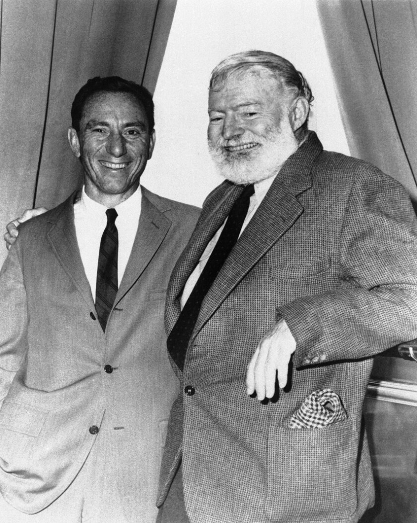 A.E. Hotchner and author Ernest Hemingway in Seattle.
