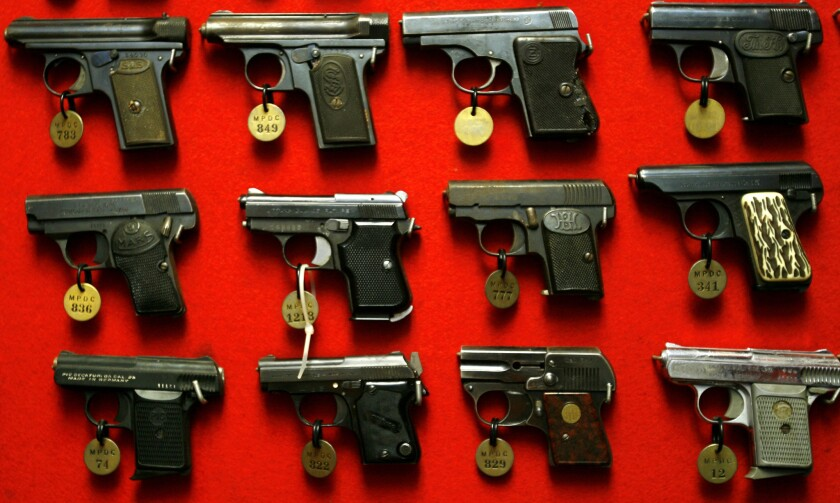 A federal appeals court has struck down as unconstitutional parts of a gun-control law in the nation's capital that imposed strict registration requirements on handguns and long guns.