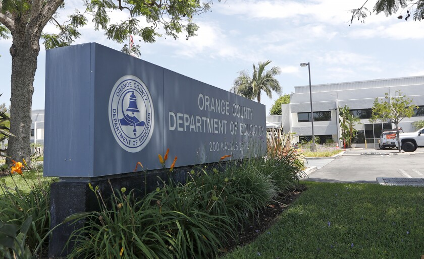 The Orange County Department of Education office in Costa Mesa.
