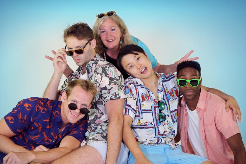 """The cast of """"The Canadians"""" at South Coast Repertory"""