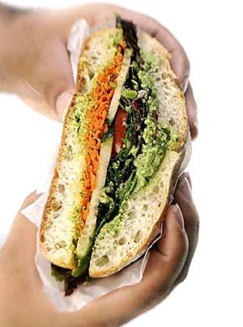 DIFFERENT: An edamame sandwich.