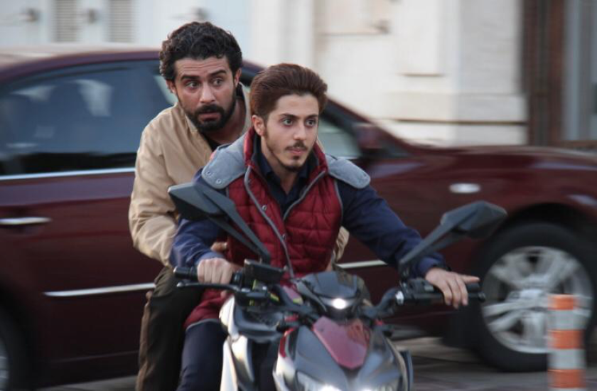 "A scene from Iranian TV series ""Gando."""